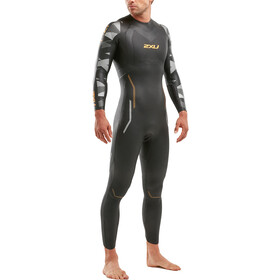 2XU P:2 Propel Combinaison Homme, black/orange fizz